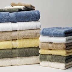 Stacked clean towels.